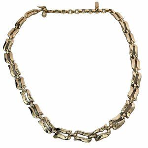 Vintage Signed MONET Gold Tone Link Chain 14 Inch